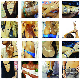 Wholesale over FEDEX ARAMEX Temporary Tattoo And Flash Bling Metallic Jewelry Tattoos Price
