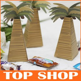 Wholesale Palm Trees Candy Gift Boxes Wedding Party Favor Paper Coconut Trees Wedding Supplies XTH176