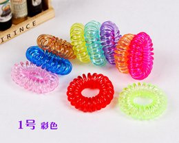 Wholesale Hot Candy Colored Telephone Line Elastic Hair Bands Hair ties Hair ring hair wear Hair Accessories
