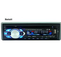 2 015 Новый 12 автомобиля Bluetooth DVD-стерео Радио MP3 USB / SD AUX аудио-плеер автомобиля в тире 60Wx4 для телефона