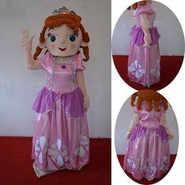 Wholesale Adult Size Sofia Mascot Costume Princess Cartoon Suit Sophia Dress XMAS Birthday