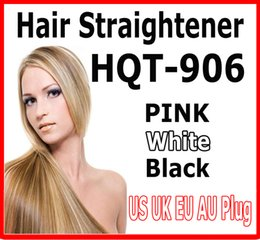 2016 hot HQT-906 Hair Straightener Flat Iron Hair irons fast Straightening Brush Hair Styling comb Beautiful Star pink white US EU UK AU