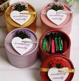 Wholesale 200pc Lovely wedding party favor gift wedding chocolate candy box with silk ribbon and lavender J92