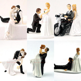 Wholesale 2015 Fabulous Playful Football Couple Custom Cake Topper Gift Wedding Party Favors Wedding Decorations CPA314