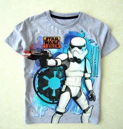 Wholesale 2015 Fashion kids Summer Spring T Shirt Star Wars Join the Empire baby boy O Neck Top Sport sleeve T shirt boys clothing