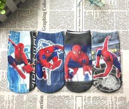 Wholesale Boys Ankle Socks Cartoon Batman Polyester Cotton Children Socks Length cm Suitable For years Baby Boys Patterns pair