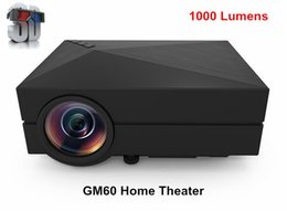 Gros-1000Lumens GM60 Projecteur 3D LED mini-projecteurs Full HD 1080p Home Theater AC3 audio portable Home Video Projecteur TV Beamer KR