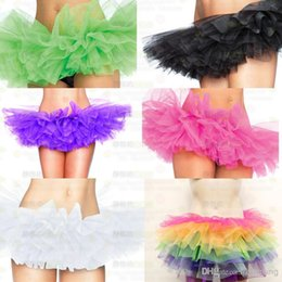Wholesale Candy Color Small Short Bustle Colors Petticoats Ball Gown Lolita Cosplay Cake Skirt Prom Cocktail Dress Underskirt Pannier Accessories
