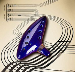 DHL Ocarina Musical Instruments Legend of Zelda Ceramic Material Top Quality 12 Holes high quality in stock