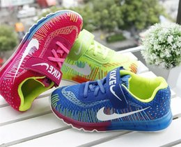 Wholesale Cheap Girls Athletic Shoes Air Mesh Upper Sapato Kids Sport Shoes for Little Girls Round Toe Design Velcro Closure Sale AS02