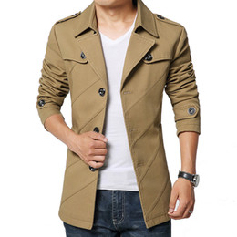 Discount Trench Coats Mens Fashion Short | 2017 Trench Coats Mens ...