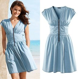 denim-tank-dress-v-neck-zipper-pleated-s
