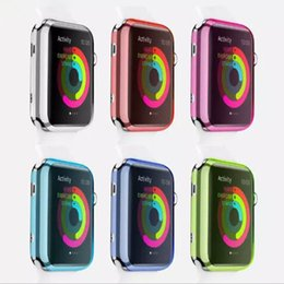 Apple Watch Case ultra mince mince transparent transparent peau couverture pour Apple Watch 38mm 42mm iwatch DHL Livraison gratuite