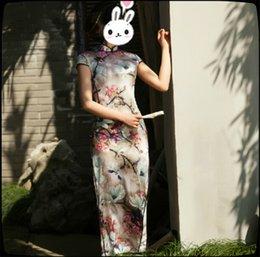 Wholesale 2015 Fashion Ethnic Clothing Long Silk Cheongsam Chinese Traditional Dress