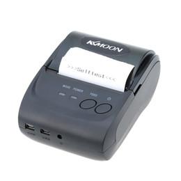 58 Мини Bluetooth для беспроводной печати Термальный чековый термопринтер для мобильного телефона IOS Android Tablet PC Портативный C2150