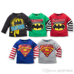Wholesale Children Kids Clothing Tees Cool Superman Baby Boys T Shirts For Spring Children Outwear Baby T shirt