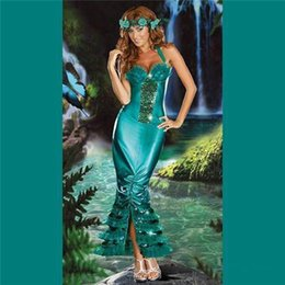 Wholesale Halloween Party Cosplay Anime Costume Role Playing Mermaid Strapless Skirt Costume Sexy Clothing VLS6827