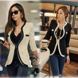 Wholesale tops women S XL Korean version of the new fashion boutique temperament small suit jacket women s slim blazer women clothes