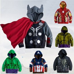 Wholesale 2015 New Brand The Avengers Captain America Hulk Captain Baby Boy Cool Jacket Coat Baby Boy Clothing Children Clothes