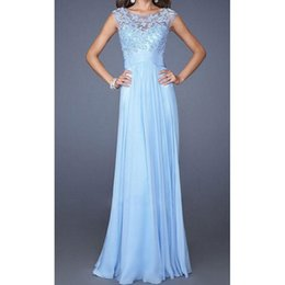 Wholesale 2015 New long Maxi Evening Dress Formal Party Beach Dress Summer Chiffon Lace wedding dress Boho dress