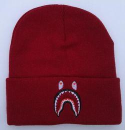 67d941860de wholesale New winter Fashion men beanie women hat casual shark knitted  sports hats warm ski gorro touca Bonnet classical hip hop skull caps
