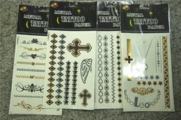 Wholesale Henna Complete Tattoos Sticker Kit Makeup D Tattoos bronzing hot silver glitter tattoos stickers