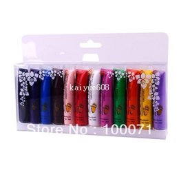 Wholesale 2 x Colors Acrylic Paint Nail Art Polish D Paint Decor Design Tips Tube Set