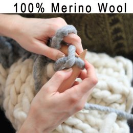 Wholesale g Balls Thick Yarn For Knitting Merino Hilos Crochet Yarn Wolle Lanas Madejas Natural Soft Hand Knitting Colorful Yarn