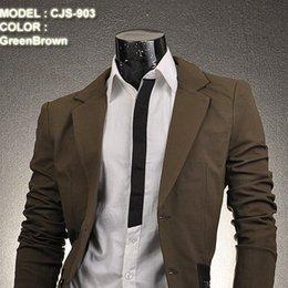 Wholesale 2014 New Jeansian Mens Designer Slim Fit Jacket Blazer Manteau style S M L CJS903