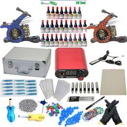 Wholesale Pro CompleteTattoo Kit Machine Guns Power Supply InkS Pigment set Tools