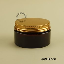 Wholesale New x g High Quality Empty Plastic Jar With Golden Lid Makeup Bottles Containers For Hand Cream Facial Mask