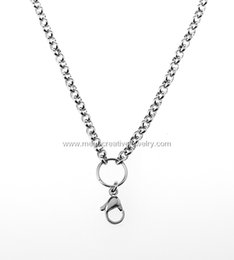 Wholesale stainless Steel rolo chains inch mm fits for magnetic memory living lockets