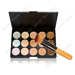Wholesale 15 Colors Neutral Makeup Concealer Foundation Cream Cosmetic Palette Set Tools With Brush SV011848
