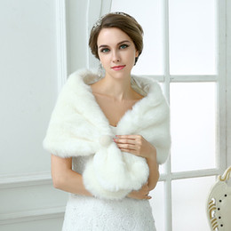 Wholesale Formal Formal Tippet Cape In Stock Jackets Faux Fur Long Bridal Wraps Cheap Sexy Wedding Accessories White For Party Cloak Coats Shawl