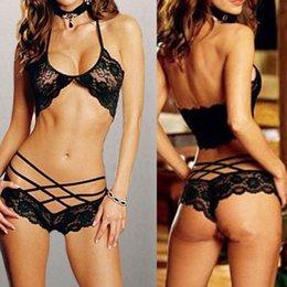 Wholesale w1022 Hot underwear Sleepwear Sexy Lady Lace Lingerie Underwear Bra G String Nightwear Babydoll Gift