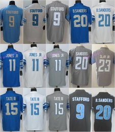 e739ecf9030 9 Matthew Stafford 20 Barry Sanders Jersey 15 Golden Tate III 23 Darius  Slay JR Jerseys Embroidery and 100% Stitched