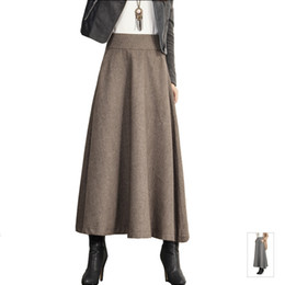 Discount Long Wool Skirts For Women | 2017 Long Wool Skirts For ...