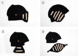 2017 wholesale knitted cashmere hat Men Winter New Arrival Grey Hand-Made Knitting Roman Knight Women Hat Stripes Winter Beard Hats Hot