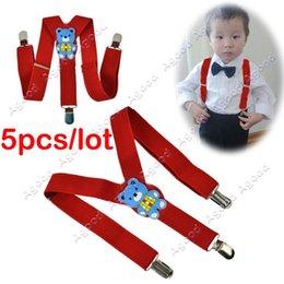 Wholesale 5pcs Cartoon Children Toddlers Adjustable Suspenders Trousers Y Back Brace Kid Baby Red