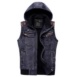 Discount Hooded Jean Jacket Vest | 2017 Hooded Jean Jacket Vest on ...