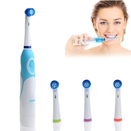 Wholesale Fashion Battery Operated Electric Toothbrush with Brush Heads Oral Hygiene Health Products No Rechargeable Tooth Brush