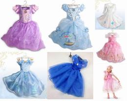 Wholesale Retails new Cinderella girls dress cinderella princess children kids baby party dress for to Years children Kids Party Fancy dresses