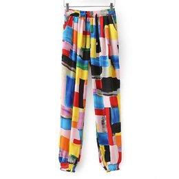 Wholesale Beauty Women Lady Colorfull Chiffon Long Palazzo Pants Trousers