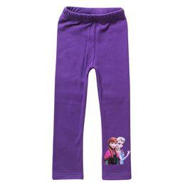 Wholesale Snow Romance Kids leggings girls leggings children cotton pants Frozen