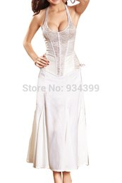 Wholesale New Arrival Vintage White Lace Corset Women Bridal Halter Corset Plus Size Corpete Corselet