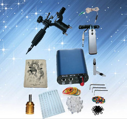 Wholesale Complete Tattoo kits rotary tattoo machine sets power supply disposable needle