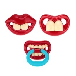 Wholesale Red Funny Silicone Baby Pacifier bpa Free Buck Teeth Pacifier Infant Soother Buckteeth Safe Quality Baby Products H15460