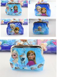 Wholesale New Listing frozen Elsa Anna iron buckle cute purse Christmas Children Gift Boys