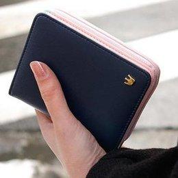Femmes Changent Sac à main 2015 Coréenne Mode Petites Femmes Portefeuille PU Cuir Zipper Femmes Portefeuille Femmes Portefeuilles Porte-monnaie