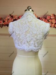 Wholesale Wedding Lace Bridal Boleros Sleeveless Spring Boleros Bride Jackets Wedding Dresses Boleros Jackets Wedding Cape Ladies Jackets